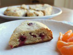 Cranberry Ginger Almond Flour Scones