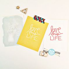 "Love This Life printable 3""x 4"" notes 