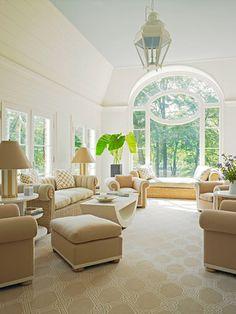 Lovely neutral room.  Anthony Baratta