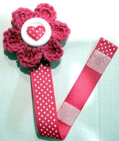DIY Crochet Pacifier Clip Pacifier Holder Toy by outofinkpatterns, $5.00