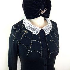 Spider web Cardigan size SMLXL2XL3XL Sweater in by MischiefMadeMe