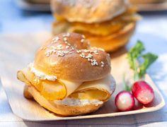 Bagel au haddock fumé, crème acidulée citron-balsamiqueVoir la recette du bagel au haddock fumé, crème acidulée citron-balsamique