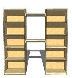 Organizing A Closet With A Diy Closet Organizer ~ * The Country Chic Cottage (diy, Home Decor, Crafts, Farmhouse)