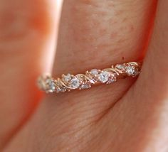 Diamond band by Eidelprecious. Twisted diamond wedding band. #wedding #weddinginspiration