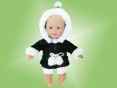 12 inch baby doll coat / green velvet baby doll by kkdesignerdolls, $17.99