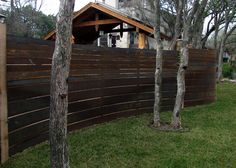 CorTen fence...modern landscape by breaux design group