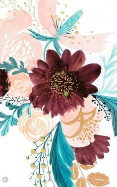 spring wallpaper floral wallpaper fashion illustration Favorite Fonts of the Month : Vol 01 - Saffron Avenue Wallpaper Spring, Frühling Wallpaper, Wallpaper Flower, Wallpaper Backgrounds, Painting Wallpaper, Iphone Backgrounds, Nature Wallpaper, Cute Backgrounds, Cute Wallpapers