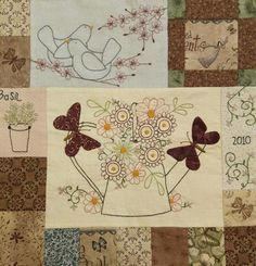 Leanne's House: Down In The Garden BOTM Quilt