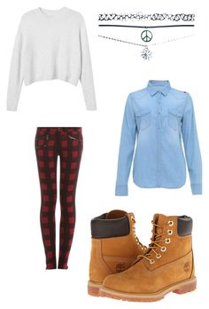 """#7"" by b3ttyw3ldon on Polyvore featuring Monki, rag & bone, Timberland and Wet Seal"