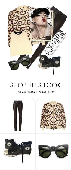 """""""animal print"""" by metka-belina ❤ liked on Polyvore featuring rag & bone, Givenchy, Converse and St. John"""