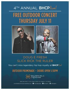 Dougie Fresh and Slick Rick Coming To BHCP