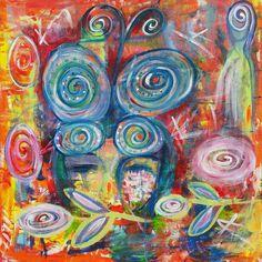 """""""Pure  joy"""" 60x60 acryl  www.artbyildy.com"""