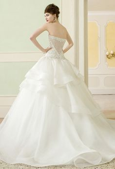 Brides: Atelier Aim�e . Romantic, floor length, hand embroidered ball gown, with a sweetheart neckline.