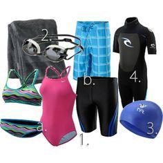 Beginner triathlon swim gear guide. #TwoTri