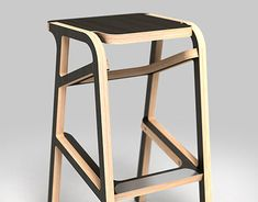 "Check out new work on my @Behance portfolio: ""bar chair"" http://be.net/gallery/65655927/bar-chair"