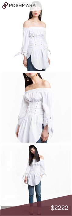 ‼️COMING SOON White Corset Tunic Top ‼️‼️ PLEASE LIKE THIS LISTING TO BE NOTIFIED WHEN THIS ITEM IS LISTED ‼️‼️ Tops