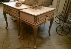 French Country Furniture, Country French, Custom Furniture, Painted Furniture, Side Tables, Mall, Entryway Tables, Deep, Antiques