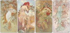'Les Saisons' (The Season) series. (1896) - Alphonse Mucha (1860-1939)