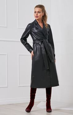 Long Leather Coat, Leder Outfits, Cute Coats, Fall Outfits, Vintage Outfits, Sexy, Womens Fashion, Jackets, Clothes
