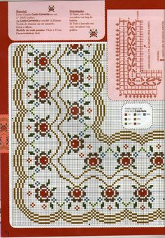 "Photo from album ""Punto Cruz"" on Yandex. Cross Stitch Borders, Cross Stitch Rose, Cross Stitch Flowers, Cross Stitch Designs, Cross Stitching, Cross Stitch Patterns, Beaded Embroidery, Cross Stitch Embroidery, Embroidery Patterns"