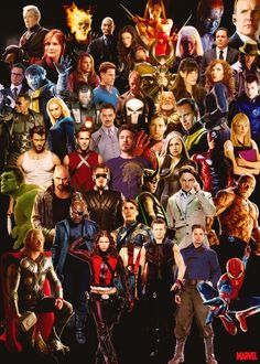 Hollywood's Marvel Universe - funny how Tony is in the middle!