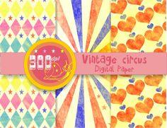 Circus digital paper antique circus patterns, circus backgrounds, scrapbooking Digital Scrapbook Paper, Digital Papers, Destination Imagination, Scrapbooking, Carnival Themes, Digital Backgrounds, Circus Party, Vintage Circus, Diy Party
