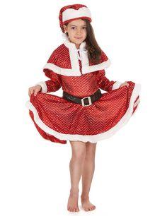 Kerstmis kerstvrouw kostuum voor meisjes