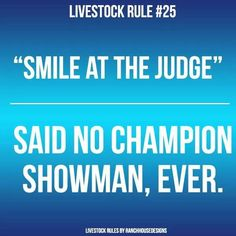 No. But winking at the female judge when you are a cute little boy never hurts!