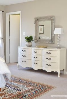 Simple Bedroom Updates  Add a rug under your bed