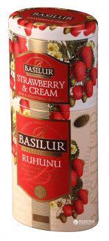 Чай черный рассыпной Basilur Цветы и фрукты Цейлона Рухуну + Клубника со сливками 2в1 125 г (4792252201187)