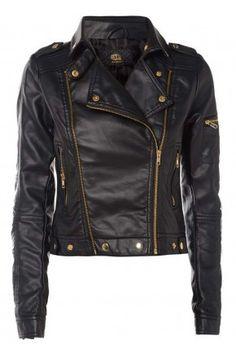 High Collar Faux Jacket