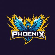 Blue phoenix awesome for gaming squad esports logo Premium Vector Parrot Logo, Design Squad, Logo Psd, Circular Logo, Animal Symbolism, Game Logo Design, Esports Logo, E Sport, Photography Logo Design