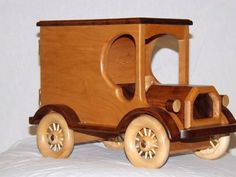 Cherry Wood Truck Bank by WoodnCraft on Etsy
