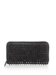 CHRISTIAN LOUBOUTIN Panettone Studded Leather Zip Continental Wallet. #christianlouboutin #wallet