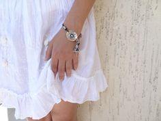 Lapis Lazuli Bracelet,  Luck Evil Eye Bracelet, Silver Plated Bracelet, Traditional Bracelet