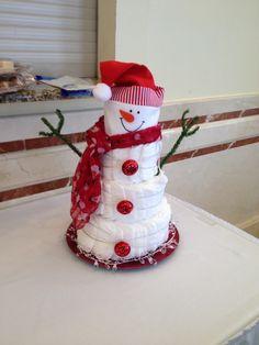 Diaper snowman!                                                                                                                                                                                 More