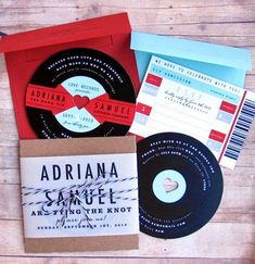beyond the aisle: paper chase: music-inspired save the dates & invites
