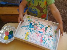 Rolling Rock Painting - A fun spring craft to try with your child.