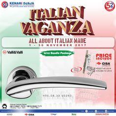 "Kabar Gembira Untuk Sahabat Kenari Djaja ..... Dapatkan Promo Spesial Di Bulan ini ""ITALIAN VAGANZA"", Periode 01 - 30 Nopember 2017, Hanya Di Kenari Djaja. Ayo Datang Dan Kunjungi Showroom Terdekat Kami  Informasi Hub. : Ibu Tika 0812 8567 7070 ( WA / Telpon / SMS ) 0819 0506 7171 ( Telpon / SMS )  Email : digitalmarketing@kenaridjaja.co.id  [ K E N A R I D J A J A ] PELOPOR PERLENGKAPAN PINTU DAN JENDELA SEJAK TAHUN 1965"