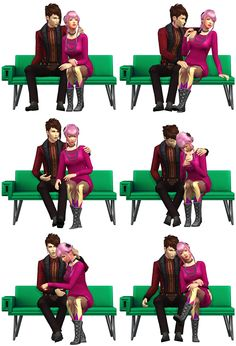 Couple Poses #11• 6 poses + all in one • Pose player (dl here) • Teleport Any Sim (dl here) Download