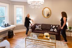 Before & After: Andrea's Blank Slate Living Room