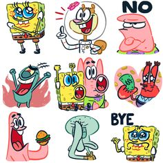 Patrick Spongebob Squarepants Stickers Star