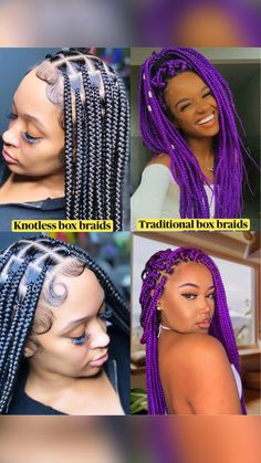Braided Hairstyles For Black Women, Dope Hairstyles, Cute Hairstyles For Short Hair, Curly Hair Styles, Natural Hair Styles, Braid Hairstyles, African American Braids, African Braids, Black Girl Braids