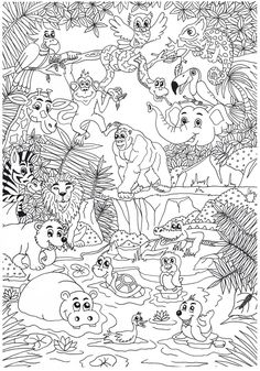 Coloring web page coloring is part of Zoo coloring pages - Spring Coloring Pages, Colouring Pages, Free Coloring, Adult Coloring Pages, Coloring Pages For Kids, Coloring Books, Zoo Animal Coloring Pages, Printable Coloring Sheets, Zoo Animals