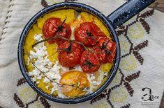Polenta - Mamaliga cu branza si rosii la cuptor