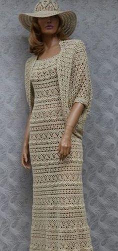 Платье с накидкой крючком со схемами. Летний женский комплект крючком со схемами |