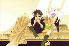 Tags: 07-ghost, Teito Klein, Frau, Mikage. I love how Frau is almost like a father to Teito.