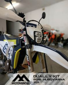 Bolt on an insane amount of light and aim flexibility onto your 2016-17 Husqvarna 701. Bracket will allow you to quickly bolt in the Baja Designs Squadron &