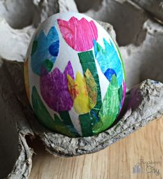 DIY floral Easter egg decorating ideas: Eric Carle-style flowers at Bugaboo City