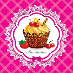 Cute cake cards design elements vector 02